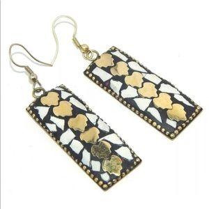 Dangling handmade Tibetan earrings